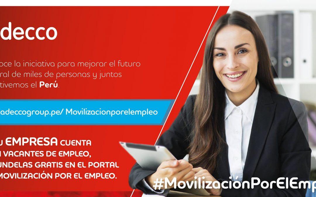 ¡Conoce y Súmate a la iniciativa de Adecco Perú que busca reducir el desempleo y ayudar a reactivar la economía!